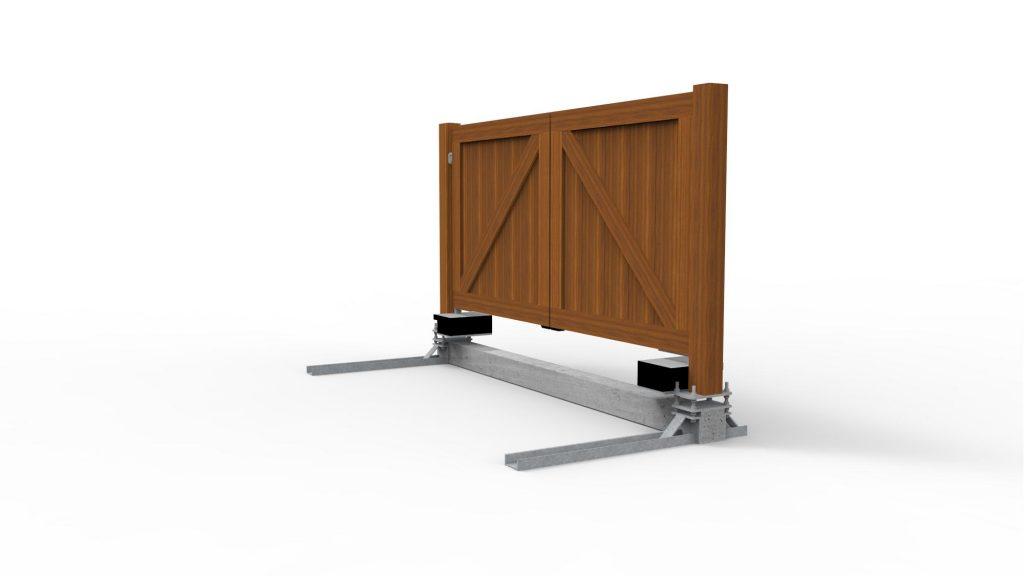 Prefab fundering van toegangspoorten, aluminium poorten en hardhouten poorten door De Poort Expert