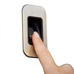 Elektrische poort bediening - vingerafdrukscanner - De Poortexpert