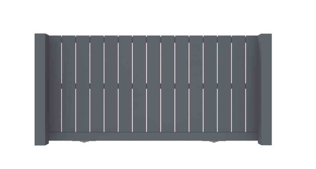 Schuifpoort aluminium model B -De Poortexpert