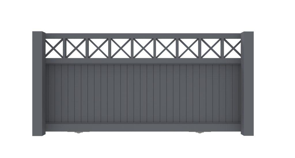 Schuifpoort aluminium model C -De Poortexpert