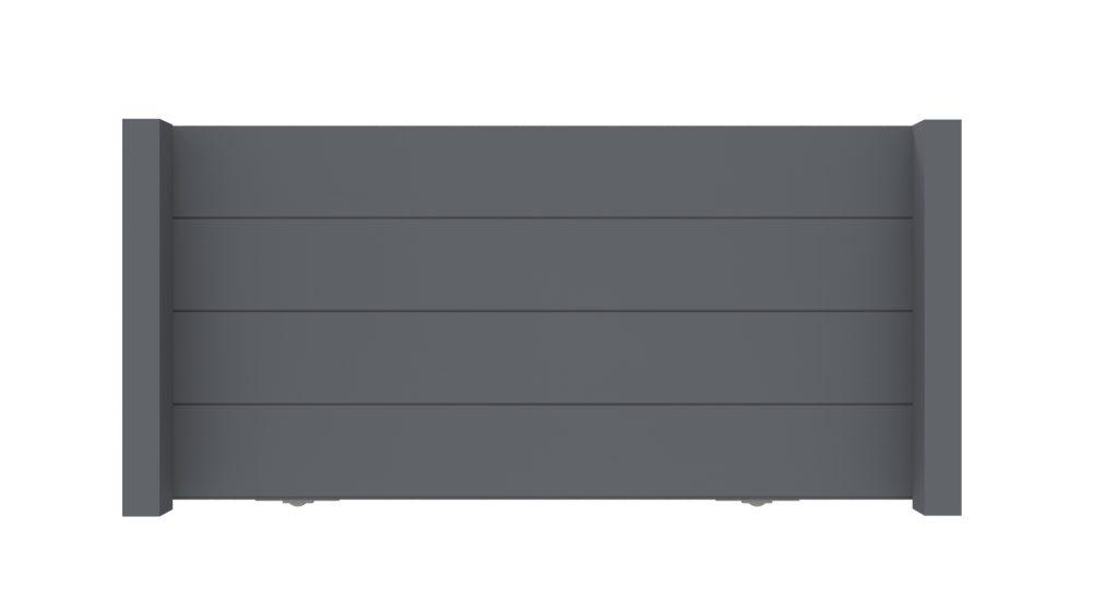 Schuifpoort aluminium model H -De Poortexpert